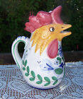 Vintage Ceramic Pitcher MADE IN ITALY - ROOSTER Hand Painted *LOVELY CONDITION*