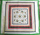 Vtg Marcus Brothers fabric panel pillow block Rick Rack MOD 22