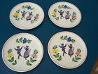 Four Alpine Peasant Ware Luncheon or Dessert Plates - Germany - Hand Painted