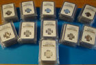 COMPLETE 1999-S to 2009-S SILVER STATE AND TERRITORIES QUARTER SET NGC PF70 UCAM