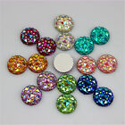 10mm AB Crystal Round Acrylic Rhinestones Flat Back Beads Gem Craft DIY ZZ 40