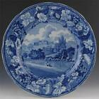 Enoch Wood Historical Blue Transferware Plate Wardour Castle, Wiltshire Pattern