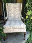 HARDEN PINK ARM CHAIR FRENCH COUNTRY OPEN STYLE W/EXCELLENT  FABRIC/AMERICA