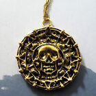 Pirates Of The Caribbean--Jack Sparrow Aztec Bronze Plated Coin Men's Necklace
