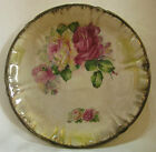 Antique Royal BONN Franz Anton Mehlem Germany Ceramic Plate with Roses - 9 3/8