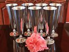 8 Rear David Orgell champagne Silver Plated Goblets in original boxes Italy