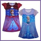 Girl Elsa Frozen Queen Dress 3-8Y Cosplay Costume Pajama Sleepwear New Nightgown