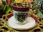 Vintage Gold Gilded Heidelburg Demitasse Bone China Cup & Saucer Bavaria Germany