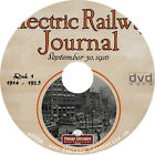 Electric Railway Journal Magazine { 1915 to 1923 ~ Railroad History } on DVD