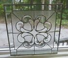 Beautiful Clear  Stained Glass & Beveled Panel-Made in USA!