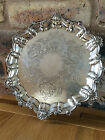 Superb Silver Salver with Floral Scrolls & Scalloped shells by E Silver & Co