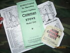 Manuals Coleman 520 military stove RARE reproductions