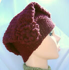 Handmade Maroon Tam With a Flower on this Cap Womans Cloche NWOT
