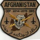 USAF 4th FIGHTER SQUADRON PATCH-'AFGHANISTAN OEF 2014-2015 ORS;'  DESERT