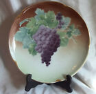 Luneville KG France Plate  Awesome Grapes with STAND or Hang!