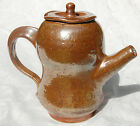 David Lane Studio Pottery Copper Luster Teapot Abington England Hand Made