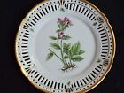 DANISH PORCELAIN RETICULATED BOTANICAL PLATE 7 6/8