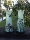 Antique 1914-1918 Imperial PSL Austria Hand Painted Pair of Butterfly Vases 8