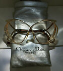 OVERSIZED BUTTERFLY ~ VINTAGE CHRISTIAN DIOR 2056-41 FRAME GLASSES ~ GOLD BROWN