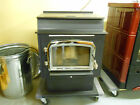 Glowboy Step Top Freestanding Fireplace Pellet Stove with Nickel Trim