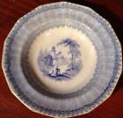 Lovely 1840-1863 Blue And White Soft Paste Plate