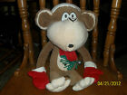 BOBBYJACK BOBBY JACK CHRISTMAS SANTA CLAUS MONKEY APE CHIMP PLUSH SO SOFT!