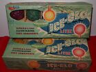 Vintage Christmas Light Bulbs ICE-GLO Lites, 2 Box Lot, C-7 Frosted  all working