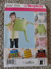Simplicity 2197 sewing pattern animal, bug fleece pillows One Size