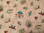 Crafts Sewing Fabric Red Rooster Nice People Nice Things Pink (4384) BTY