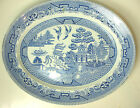 Willow Serving Platter Imperial Semi Porcelain Myott Son & Co England Blueware