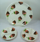 Set 3: Kitchen Prep 101 Strawberry CHOCOLATE STRAWBERRIES Platter/Dish & Plates