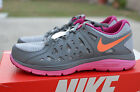 NIKE WOMENS DUAL FUSION RUN 2 SHOES SIZE 10 grey orange  599564 011