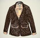 NEW BURBERRY BRIT QUILTED WOMEN'S COAT JACKET SIZE L