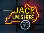 JACK DANIEL'S JACK LIVES HERE KENTUCKY BEER BAR PUB NEON LIGHT SIGN