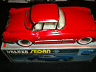 Vintage Tin Litho Metal Friction Toy Car 1950s Corvette Red Coupe
