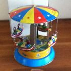 Tin Toy Rocket Carousel Wind Up Tin Toy Rocket Ride