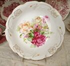 FAB CHIC Antique Porcelain Large Serving BOWL Pink Shabby Roses Germany