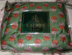 RALPH LAUREN Full Bedskirt $120  VILLAGE MEWS FOULARD Green red
