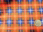 Vintage Red Green Royal Plaid Cotton Flannel Fabric 18