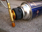 Camp Burner Split Cartridge Gas Fuel Canister Stove Cans Tank Adapter Converter