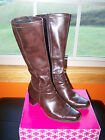 CABRIZI 8M Women's Brown Fashion Boots Side Zip All Man-Made Materials Preowned