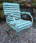 Vintage 1950s Mid-Century Wood Outdoor Patio / Lawn Accent Chair - Shabby