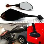 INTERGRATED LED TURN SIGNALS REARVIEW MIRRORS FOR HONDA CBR250R CBR500R CBR300R