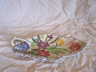 Blue Ridge Pottery Leaf Painted Handled Serving Tray Plate 10 3/4