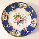 EARL VANDEKARENGLISH RICH DEP ROYAL BLUE FLORAL GILT EDGE PORCELAIN ART PLATES-5