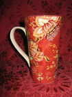 222 Fifth Gabrielle Red Latte Mugs - Set of 2 - New