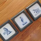 Delft Tiles, Lot Of Three In Frames