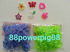 1200 Mixed Color 2 Styles B Loom Rubber Bands & 32 S Clips & 6 Charms US Seller