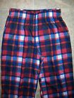 Cherokee NWOT Red & Blue Checked PJ Pants Boys Size: S(6/7)