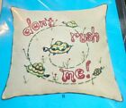 DON'T RUSH ME Creative Stitchery Crewel Embroidery Kit Pillow Cover 13